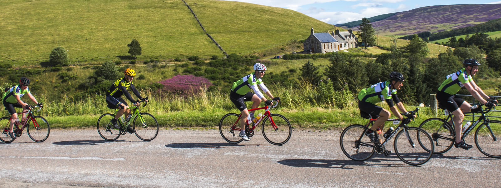 cycle in the grampian highlands